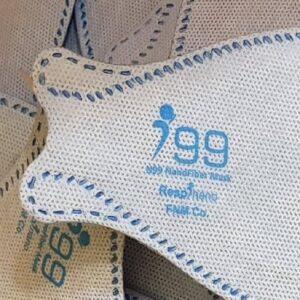 ماسک تنفسی نانو سه بعدی مدل فیش سایز کوچک رسپینانو N99(سفید)– بسته ۲۵ عددی Fish Type Small-Sized N99 Face Mask 3D –