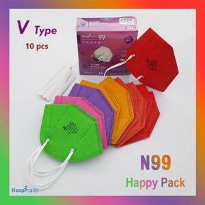 ماسک تنفسی نانو i99 بدون سوپاپ وی تایپ رسپینانو – بسته ۱۰ عددی Nano Respirator i99 V-Type non-valve –
